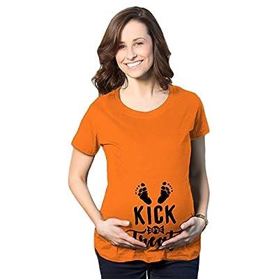 Crazy Dog T-Shirts Maternity Kick Or Treat Tshirt Funny Halloween Pregnancy Announcement Tee