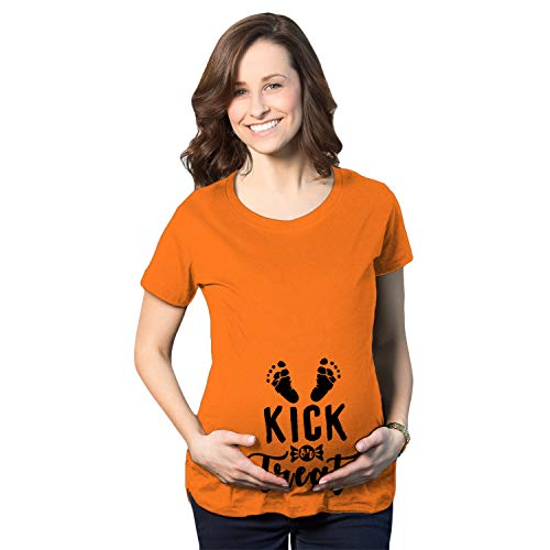 Crazy Dog T-Shirts Maternity Kick Or Treat Tshirt
