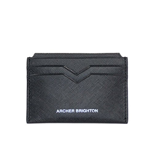 Archer Brighton Slim Saffiano Leather Card Wallet
