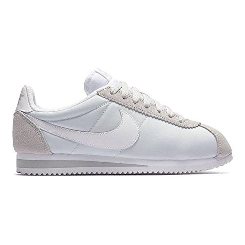 Mixte Blanc Nike Cortez Adulte Gris WMNS Pur Running Nylon Chaussures de Classic Platine Entrainement qw6aqSU