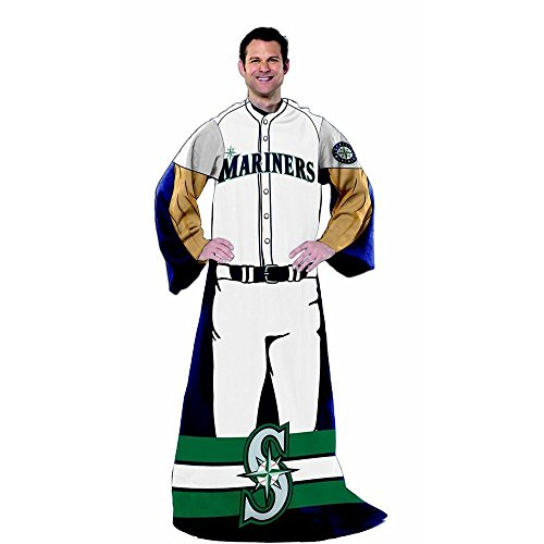 The Northwest Company MLB Seattle Mariners Throw Blanket with Sleeves, One Size, - Bedding Mariners Seattle