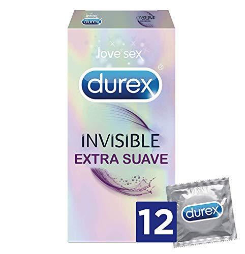 🥇 Durex Preservativos Invisible Extra Fino Extra Sensitivo – 12 condones