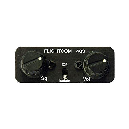Flightcom 403 Panel Mount Intercom - 6-Place Stereo - Voice-Activated by Flightcom