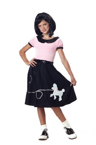 California Costumes 50's Hop with Poodle Skirt Child Costume, Medium ()