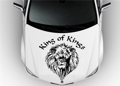(Vinyl Decal Mural Sticker Hood Auto Car Animals King Leo Lion Tribal Tattoo S7119)