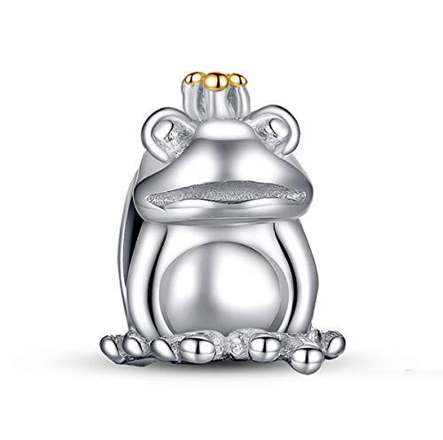 Eternalll Jewellery Original 100% 925 Sterling Silver Charm Bead Love Animal Charm Family Birthday fit Pandoras Bracelets DIY Charms (Frog Charms) ()