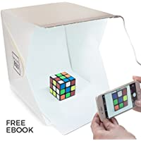 BrightBox Portable Mini Photo Studio With LED Light - The Best Small Folding Product Lighting Kit Light Box Tent (+ free ebook guide to product photography)