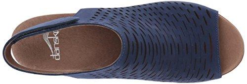 Blue Danae Women's Nubuck Dansko Milled Heeled Sandal n6xHZw8qAg
