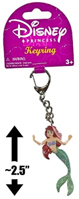 "Ariel ~2.5"" Mini-Figure Keychain: Disney Princess PVC Keyring Series"