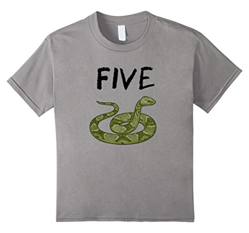 Price comparison product image Kids 5 Year Old Snake Reptile Birthday Party 5th Birthday T-Shirt
