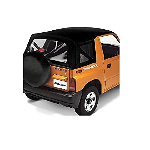 Bestop 51361-15 Black Denim Replace-a-Top(TM) Soft Top Clear Windows - No door skins included - No frame hardware included- 1986-1995 Suzuki Samurai by Bestop