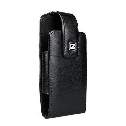 CASE123® MPS Classic TL Elite Premium Genuine Leather Vertical Swivel Belt Clip Holster for Apple iPhone 6 / 6s (4.7 in screen) - For use with Otterbox Commuter, Urban Armor - Genuine Leather Armor Case