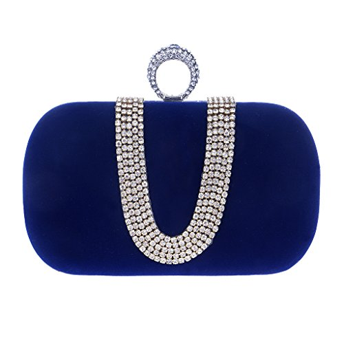 BF-Handbag - Cartera de mano para mujer morado morado talla única azul