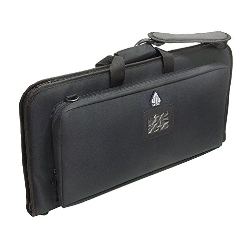 UTG Gun Case, Dual Storage, Adjustable Shoulder (Large Pistol Case)