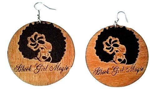 Black Girl Magic, Black Girl Magic Earrings, African Wood Earrings