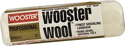 Wooster Brush RR631-9 Wooster Wool Roller Cover 3/8-Inch Nap, 9-Inch