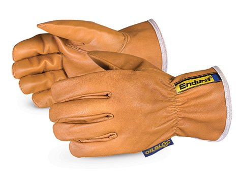 Superior 378GOBKL Endura WaterStop/Oilbloc Goat Grain Leather Drivers Glove with Kevlar Lined, Work, Cut Resistant, X-Large (Pack of 1 Pair)