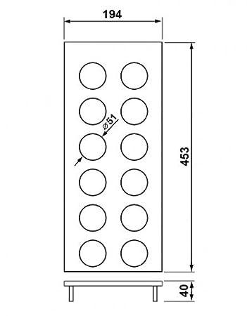 Gewürzdoseneinsatz B1 Nussbaum für die EASY Classic und OPTION Classic Einsätze
