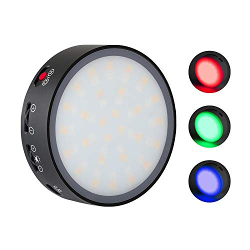 RGB LED Camera Light LituFoto R10 128P Full Color Lamp Beads Round Creative Fill Light 3200K-7500K CRI 96+ with OLED Display and App Control for Video Recording Portrait Still Life Photography