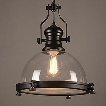 Industrial Nautical Transparent Glass Pendant Light-LITFAD 12\