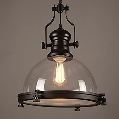 ceiling melody clear glass dome industrial light pendant maison