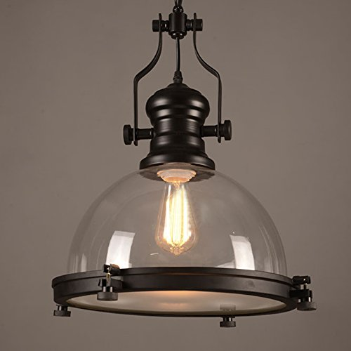 Industrial Nautical Transparent Glass Pendant Light-LITFAD 12