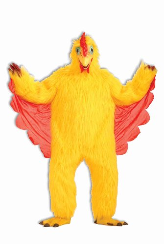 Forum Men's Plush Chicken Costume, Yellow, One (Costumes Chicken Feet)