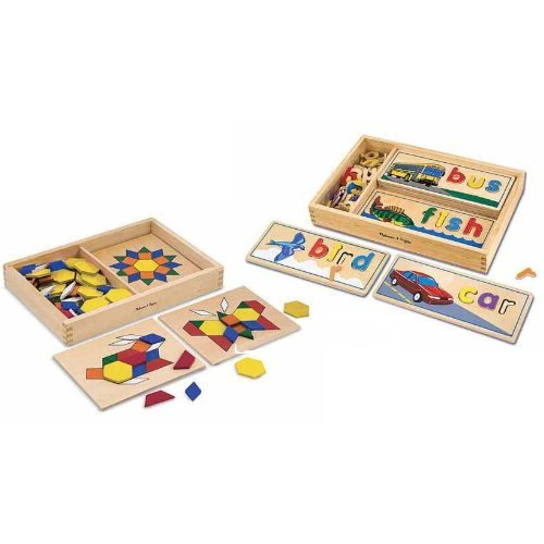 Melissa & Doug See & Spell w/ Pattern Blocks & Boards