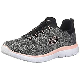 Skechers Summit - Quick Getaway Black/Coral 9 B (M)