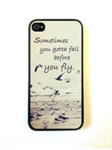 Sometimes You Gotta Fall Quote Ocean Case For Iphone 5/5S Cover Case Fits Iphone 5/5S/Designer...