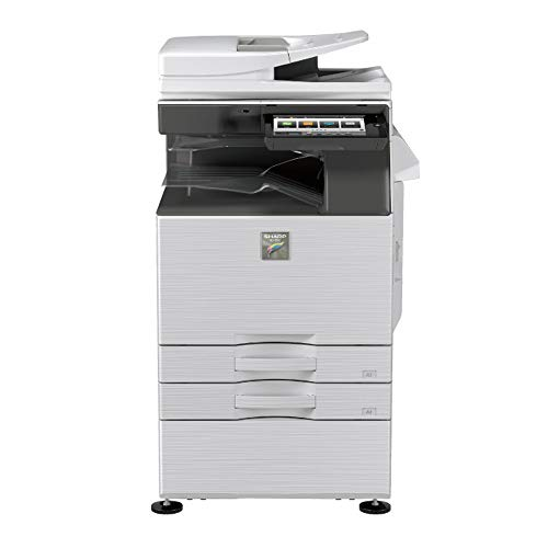(Sharp MX-3050N Tabloid/Ledger-Size Color Laser Multi Function Copier - 30ppm, Copy, Print, Scan, Auto Duplexing, Network Print & Scan, 600 x 600 DPI, 2x500 Sheets Trays, Stand)