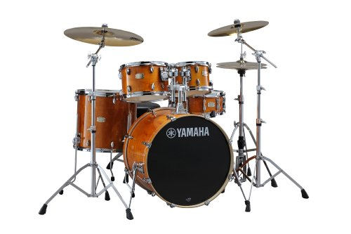 "Yamaha Stage Custom Birch 5pc Drum Shell Pack - 20"" Kick, Honey Amber"