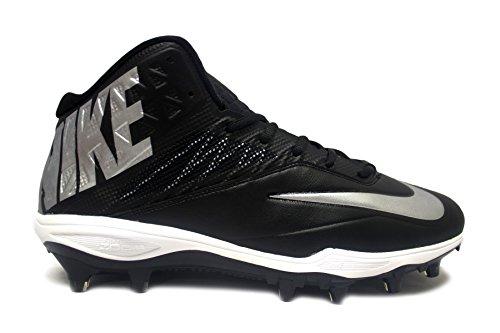 Nike Zoom Code Elite Chaussettes De Football 3/4 Td (10, Noir / Blanc / Argent Métallisé)