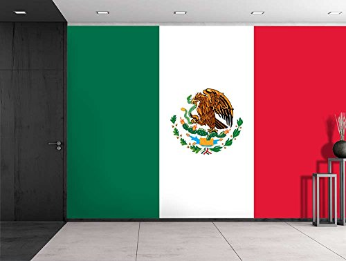 Large Wall Mural Flag of Mexico Vinyl Wallpaper Removable Decorating
