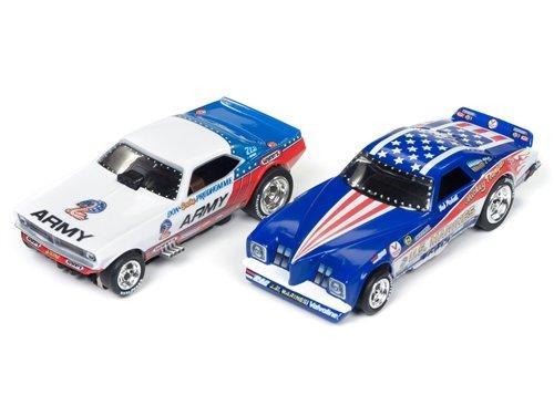Auto World SRS319 Legends of the Quarter Mile Pro Racing Dragstrip HO Scale Slot Car Set