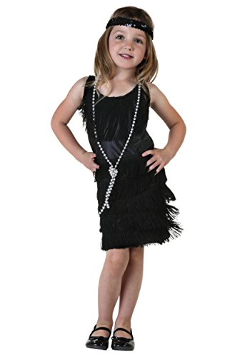 FunCostumes Little Girls' Black Flapper Dress 4T -