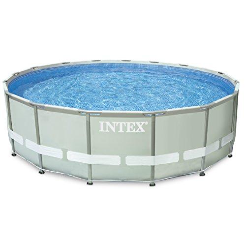intex 16ft x 48in ultra frame pool set filter pump ladder ground cloth cover. Black Bedroom Furniture Sets. Home Design Ideas