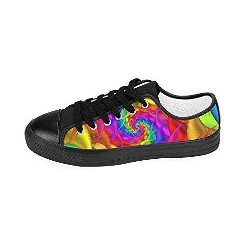 Psychedelic Arrival Women Model018 2015 Shoes For New Spiral Artsadd Canvas Rainbow Custom FdFqU