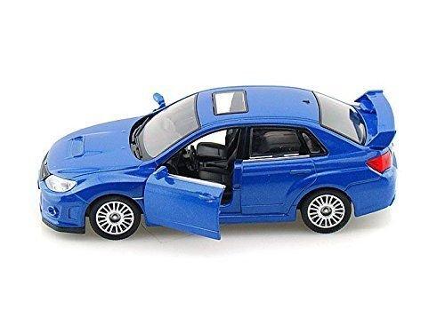 Subaru WRX STI 1/36 Scale BLUE Diecast CAR model Pull back ...