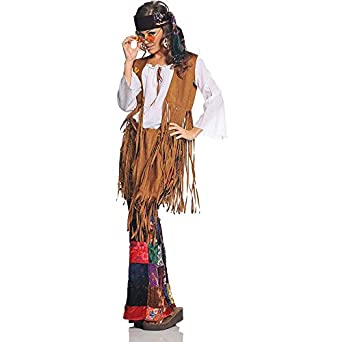 60s Costumes: Hippie, Go Go Dancer, Flower Child Retro Hippie Costume - Peace Out $80.99 AT vintagedancer.com