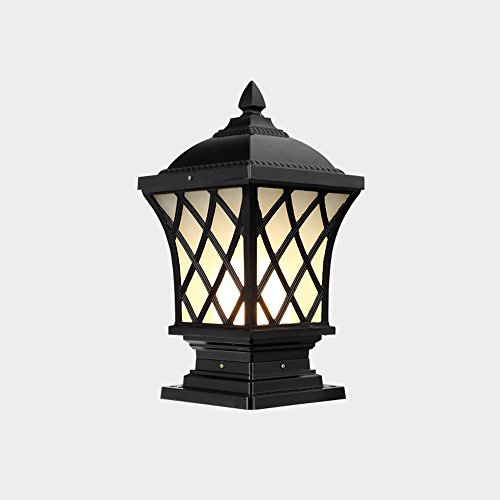 Column Table Lamp - Modeen Continental Victoria Waterproof Pillar Column Light Outdoor E27 LED Antique Tradition Villa Doorpost Fence Light Balcony Pillar Square Table Lamp Pillar Bollard Lamp Garden Decoration Lights