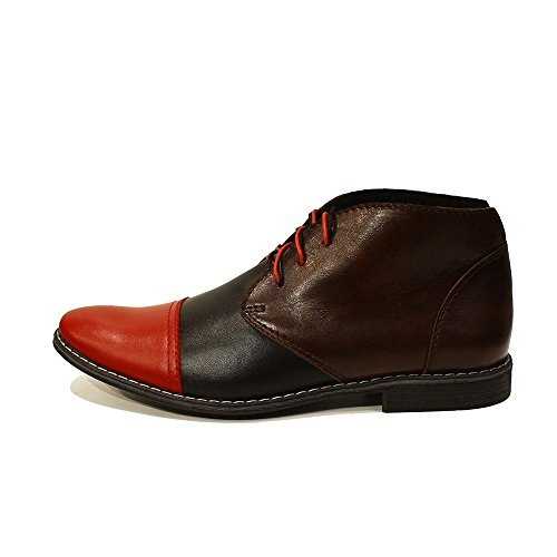 Cirillo Boots Smooth Ankle PeppeShoes Cowhide Lace Leather Handmade Up Modello Mens Colorful Chukka Italian Leather Uqz5wT