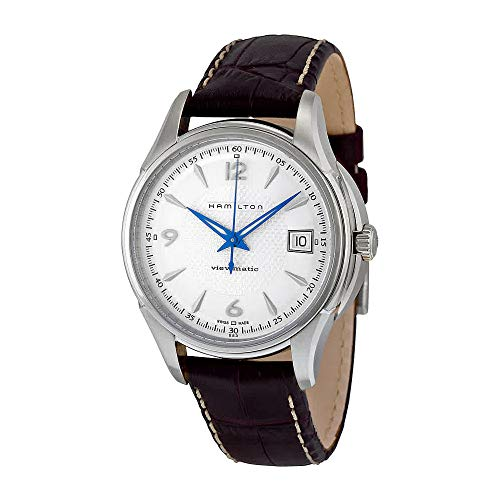 Hamilton Men's H32455557 JazzMaster Viewmatic Silver Dial Brown Strap ()