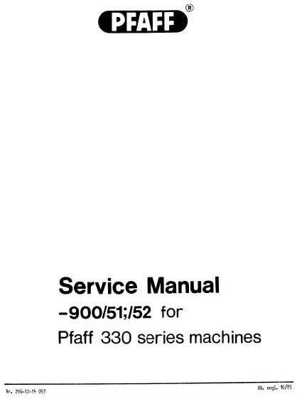 Descargar Pdf-File Pfaff 330-900 51 52 máquina de coser: Amazon.es ...
