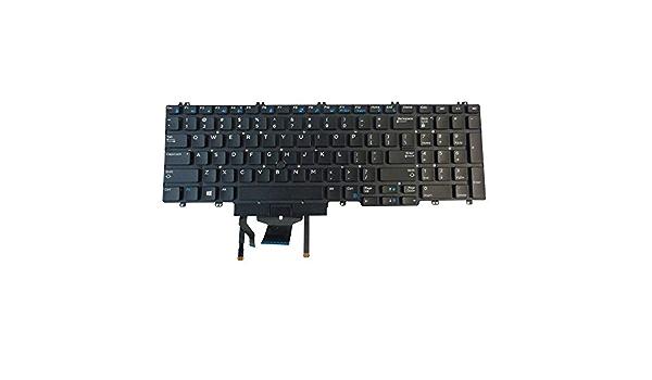 Original New for Dell Precision 7540 7740 Laptop US Keyboard Backlit Without Frame