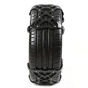 Pueri Car Tire Chains Universal Thickened TPU Car Tire Snow Chains Emergency Tire Anti-skid Belt 3 PCS (Black)