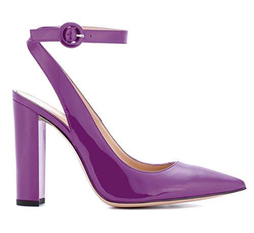 Sandales Violet Talons 10 Ubeauty Aiguilles Heels Élégant Escarpins High Hauts Slingback Femmes Cm C4156R