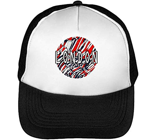 Hombre Flag Beisbol Gorras Artwork Negro Snapback Blanco 1GD Coloured wfxdBI1B