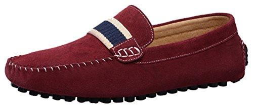 Abby 7599 Slip-on Confort Para Hombre Excepcional Mocasines Casuales Zapatillas De Peluquero Driver Red