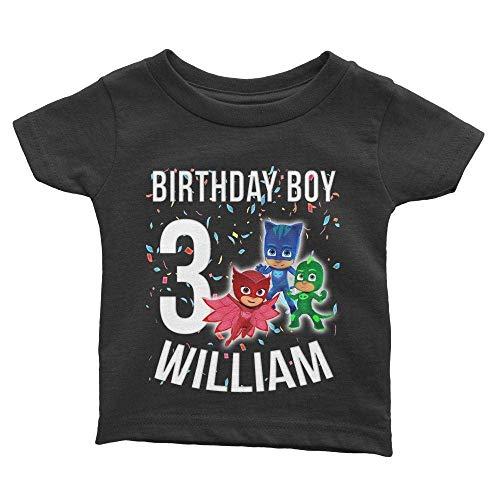 Personalize PJ Masks Birthday Shirt